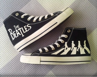 Converse Shoes The Beatles-handpainted shoes