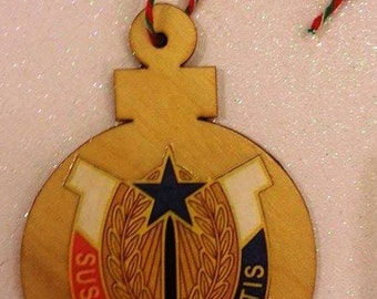 Military Christmas Ornament  Military Gift Army Navy Marine AirForce Wood Ornament