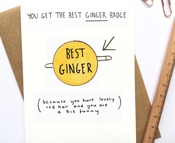 Best Ginger Card Funny For Dad By Paperjung