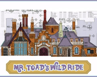 Disneyland - Fantasyland - Mr. Toad's Wild Ride - Blueprint (Digital)
