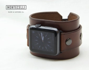 Venture Brown (Tailored Fit) Apple Watch Leather Cuff Band