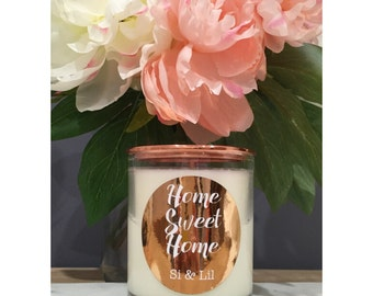 House Warming Soy Candle Gift - 'Home Sweet Home'