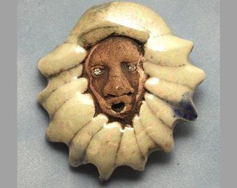 Porcelain Brooch Pin - Shadow Singer