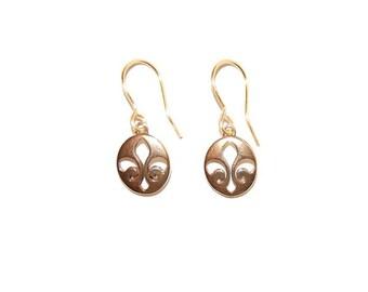 BRONZE FLEUR DE Lis Earrings