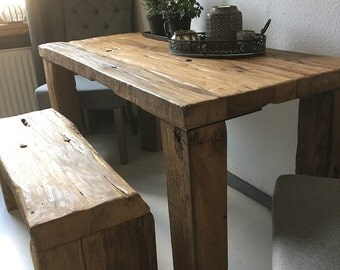 "Dining table and bench ""Monument"""