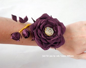 Silk Flower, Wedding, Bridal, Wrist Corsage, Mother-of-the-Bride, Flower-girls, Gift, Memento, Keepsakes, Custom Made