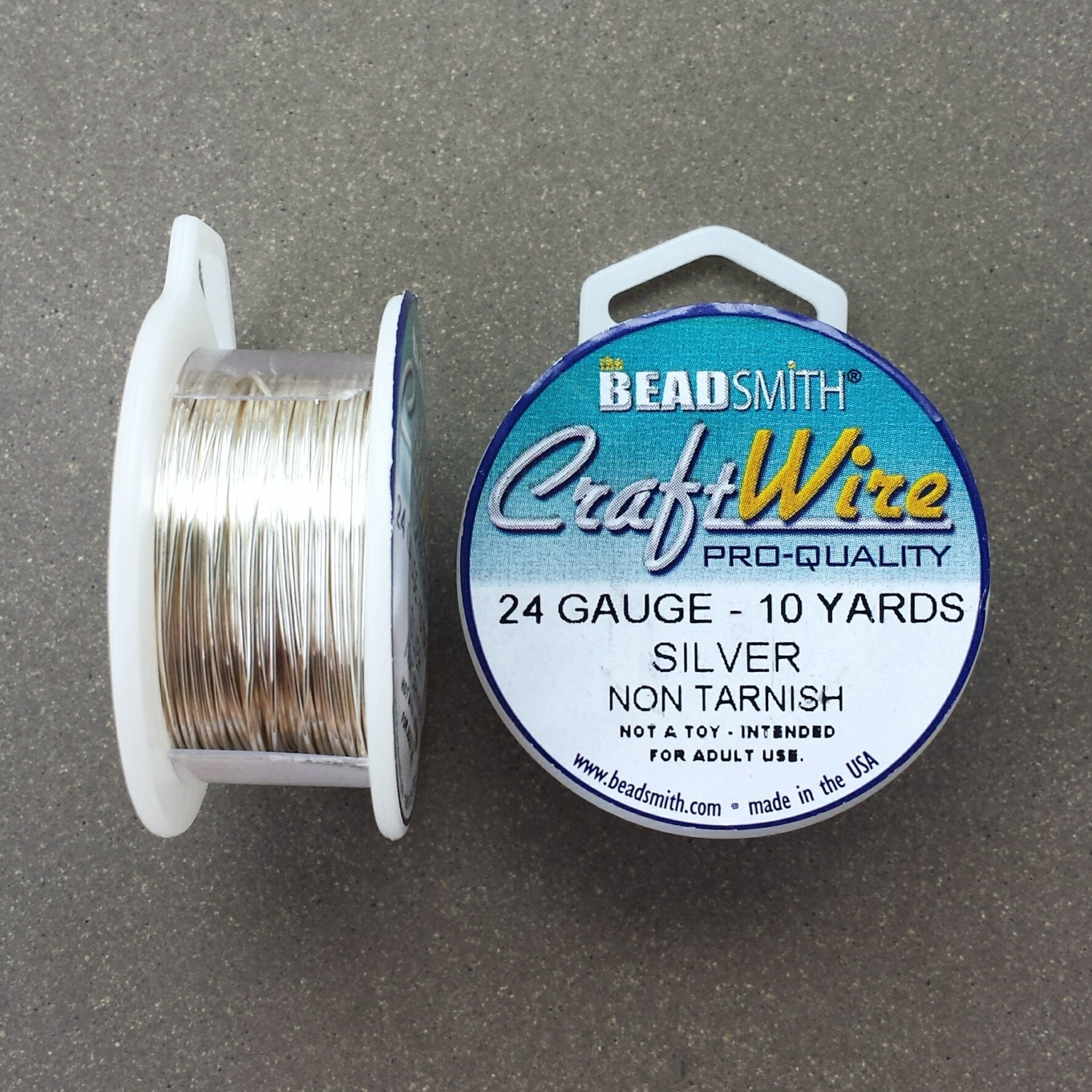 24 gauge silver plated craft wire 10 yards 24 ga for 24 gauge craft wire