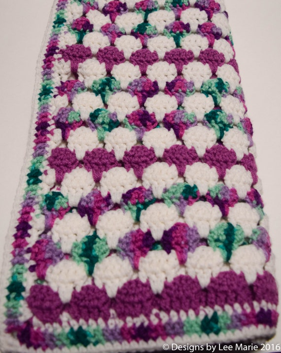 Larksfoot Crochet Baby Blanket Pattern : Verigated Larksfoot Baby Blanket