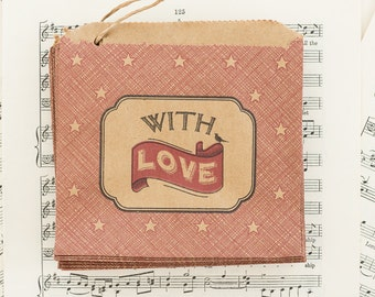 With Love Little Paper Bags x 10
