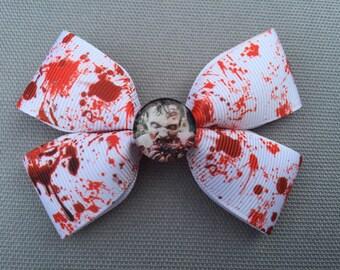 Handmade Walking Dead Inspired Hair Bow