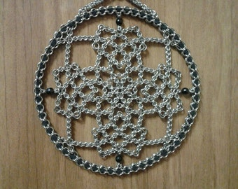 316l stainless steel chainmaille Celtic Cross