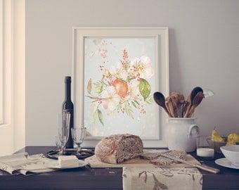 Shabby Chic Printable Home Decor Art Rustic Persimmon 1