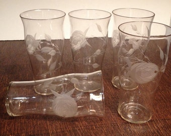 Etched Tumblers - set of 5