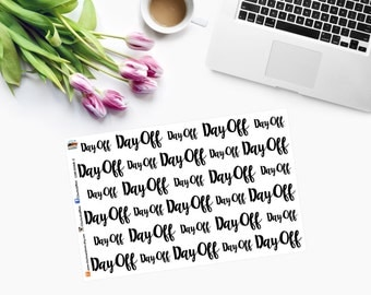 DAY OFF Word ONLY Planner Stickers CAM00168-2