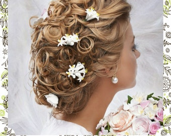 Wedding hair decor accessories with any Flowers |Blüte|