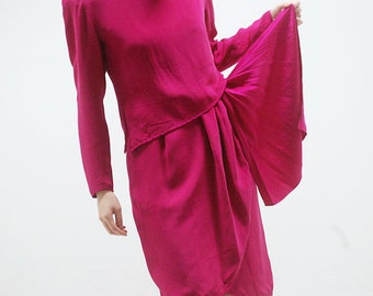 Nordstrom vintage Fucshia dress
