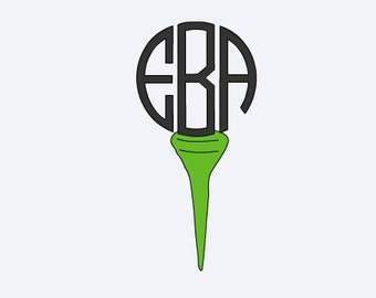 Golf Decal - Yeti Golf Decal - Golf Monogram - Golf Decal - Lilly Inspired Monogram - Golf Gift