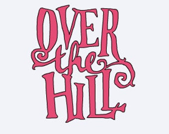 Yeti Decal - Over The Hill Decal - Over The Hill - Funny Yeti Decal