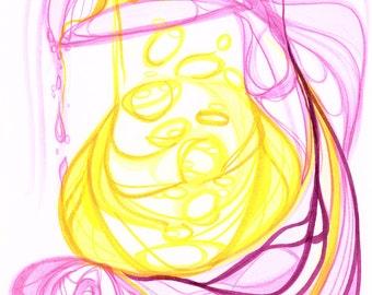 Bubblegum - Original Abstract Art Print