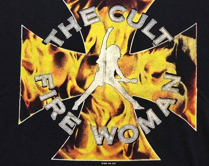 1989 The Cult Fire Woman/Sonic Temple T-shirt