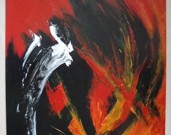 Original Abstract Painting: ''Runaway Horse''