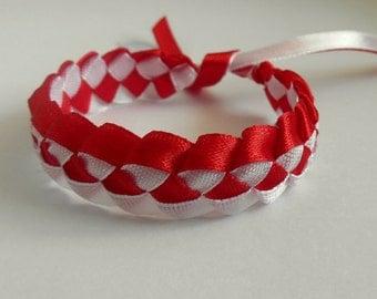 3pc. Wristbans Braslets White and red Poland Polish flag Polskie flagi biały i czerwony Polska