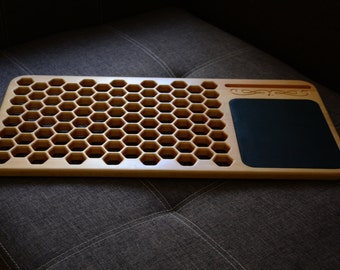 Laptop Desk, Bee cells style