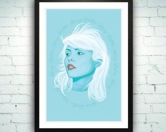 Debbie Harry Poster Art Illustration Art Print Blondie Poster