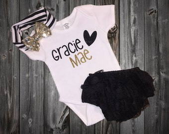Personalized Baby Girl Outfit, Baby Girl Clothes, Baby Shower Gifts, Baby Clothes, New Baby Gift, Baby Shower Gift, Baby Girl Shirt, Hipster