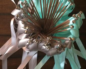 150 Wedding ribbon wands