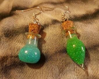 Mage Survival Kit - Lyrium & Healing Potion Earrings