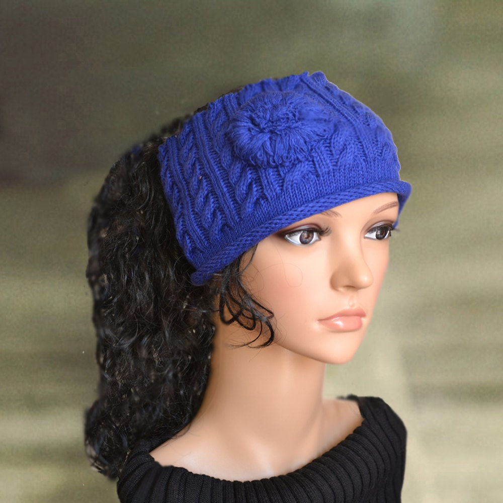 Knitted Headband Patterns Wide : Knit warm headband Wide wool ear warmer Headbands for