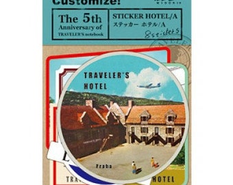 Vintage Stickers for The Traveler's Notebook – Hotel A