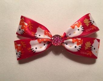 Fall Hello Kitty Hair Bow