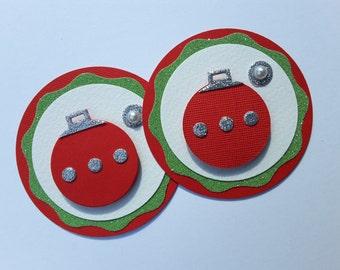 Christmas Ornament Gift Tag/Scrapbook embellishment