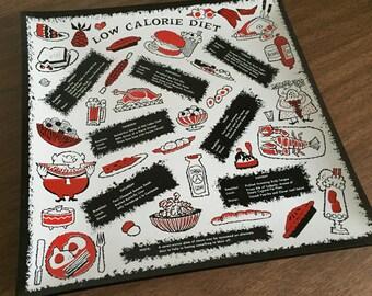 Vintage Low Calorie Diet Plate