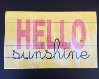 Hello Sunshine Slat board