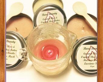 Coconut Wax and Organic Shea Butter Massage Candle moisturiser