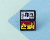 FBI Mulder Enamel Pin  lapel pins simpsons simpsons pin xfiles fox mulder  EP051