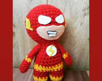 Flash DC Comics,action figures, dcuniverse, dccomics,handmade,justiceleague, gift,souvenir, crochet