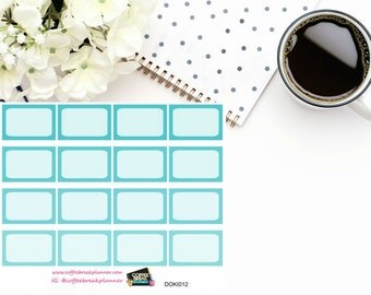 Blue 1/3 boxes for Doki Discagenda| Planner Stickers| Dokibook Discagenda| Personal Planner| DOKI012
