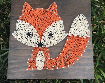 MADE TO ORDER - Baby Woodland Fox String Art