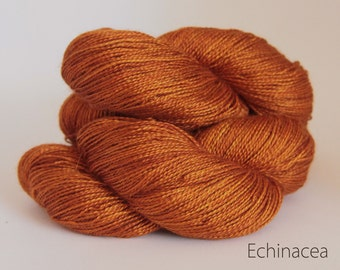 Swiss spun silk and Royal Alpaca, luxury lace weight yarn, Tamarind Sunset, Hand dyed, 100gms