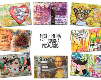 Art Journal Postcards (Set 1)
