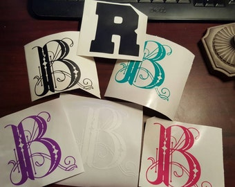 "2"" Vinyl Monogramed Individual Letters"