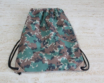 Backpack camouflage print