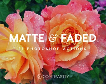Matte & Faded Tone Photoshop Actions