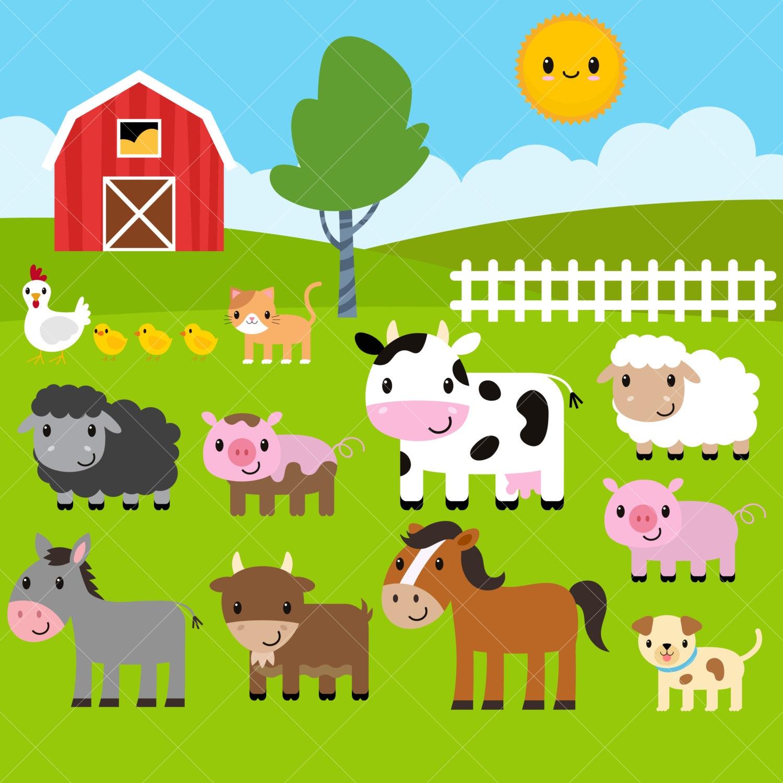 Farm Animals Clipart / Farm Clip Art / Barnyard AnimalsClip Art Pictures Of Farm Animals