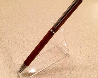 Handcrafted Chrome Slimline Twist Pen in Cocobolo
