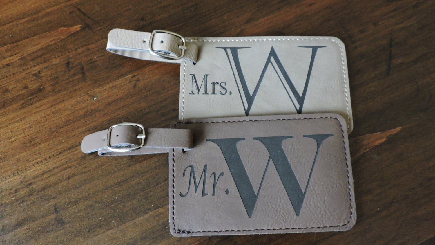 Mr And Mrs Gifts Wedding: Mr & Mrs Luggage Tags Mr And Mrs Gift For Wedding Or